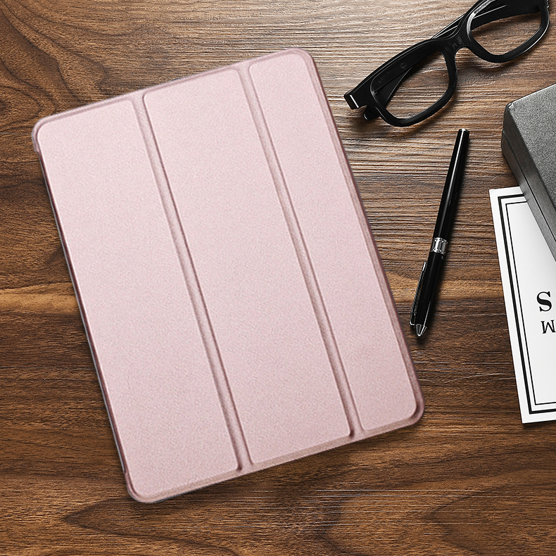 Rose Gold Green Case For iPad 10 2 inch 2020 Flip Trifold Stand Case PU Leather Full Smart Auto