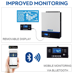 Image 4 - EASUN POWER onduleur 5000W 500V dc entrée PV 230V ac, 48V ac, 80a, MPPT, commande LCD, USB, Bluetooth