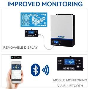 Image 4 - EASUN moc USB Bluetooth 5000W falownik 500Vdc wejście PV 230Vac 48V 80A ładowarka słoneczna MPPT wsparcie mobilne monitorowanie sterowanie LCD