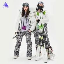 Бренд Вектор для мужчин и женщин горнолыжный костюм куртка лыжные