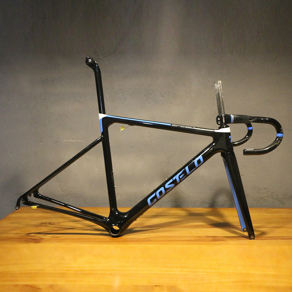 NEW DISC Costelo Speedmachine1.0 Carbon Fiber Road Bike Frame With Handlebar Bicicleta Frame Carbon Fiber Bicycle Frame