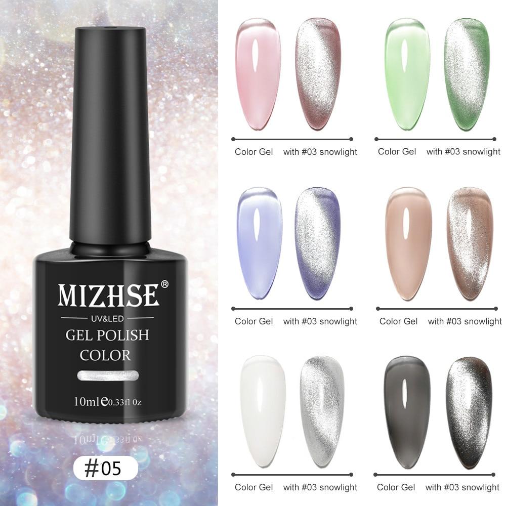 MIZHSE 10 мл Aurora Smoothie 9D гель кошачий глаз кристальный блеск Магнитный Полупостоянный акриловый лак для ногтей гель для ногтей