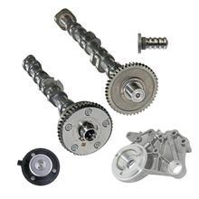AP01 Intake & Exhaust Camshaft + Bridge Bracket + Magnet + Solenoid for Audi VW 06J109021 06H103144J, 06H103144G, 06H109021