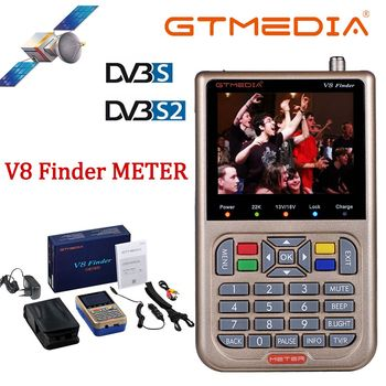 Original GTMEDIA /Freesat V8 Finder Meter DVB-S2/S2X Digital Satellite Finder High Definition Sat Finder Satellite Meter
