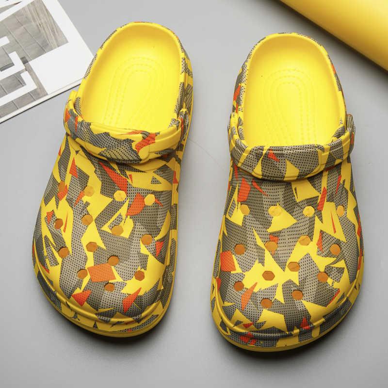 35 ~ 47 cặp đôi Nữ Giày Nữ Bít Tắc Lỗ Giày Nam Đi Biển Ánh Sáng Giày Dép Trong Nhà Ngoài Trời Mùa Hè Lội Giày Sneaker Giải Trí giày