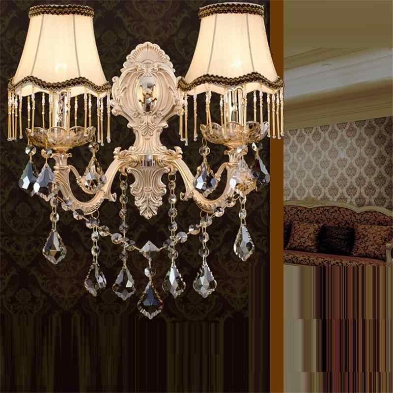 Arandela Stair Deco Mural lámpara Interior moderna De cristal dormitorio Lampara De Pared Interior aplique Murale Luminaire luz De Pared