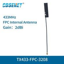4 cái/lốc FPC Wifi Ăng Ten IPEX Giao Diện 2dBi TX433 FPC 3208 Đa Hướng FM Ăng Ten