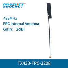 4pc/lot FPC Wifi Antenna IPEX Interface 2dBi TX433-FPC-3208 Omnidirectional fm