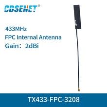 FPC Wifi-Antenna Omnidirectional Ipex-Interface 2dbi 4pc/Lot TX433-FPC-3208