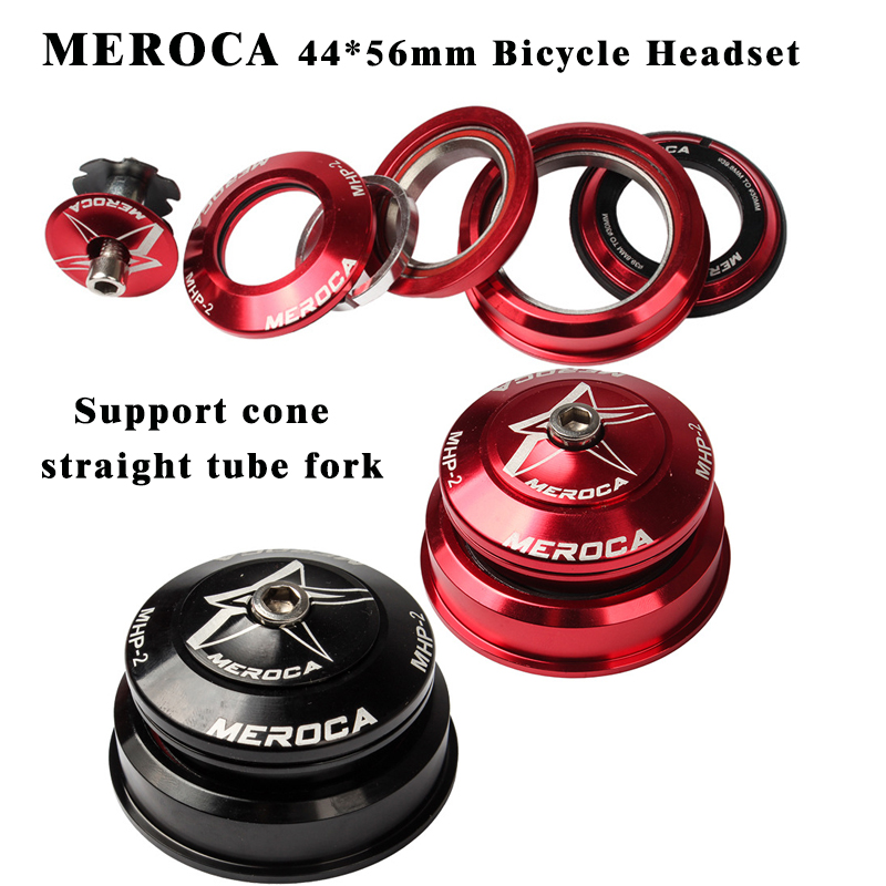 MEROCA Bicycel Tapered Headset 44mm 56mm Press-in Palin Headset For MTB Mountain Bike tapered front fork and straight tube front fork