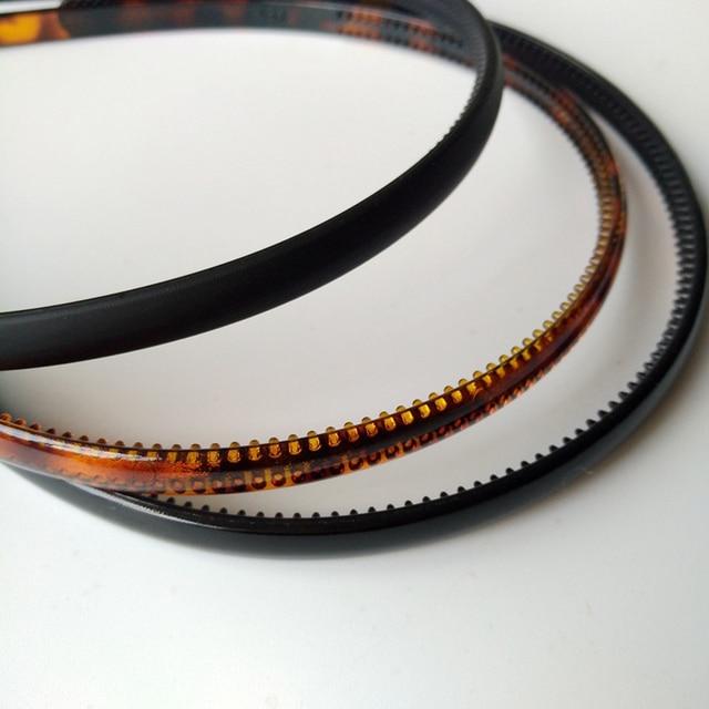 0.8cm Plastic Leopard 1 pc Fashion Mens Women Unisex Black Hair Head Hoop Band Sport Headband Hairband hair accessories