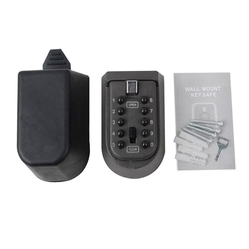 Wall Hanging Key Code Lock Thickening Iron Key Box Outdoor Wall Mount Spare Key Safe Box Lock Holder