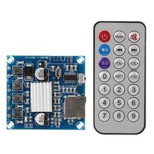 Digital Amplifier Board Module Dual Channel for Bluetooth Support Memory Card 15W+15W Amplifier Board Module dc 12 24v 15 15w digital amplifier board module volume adjustable dual channel