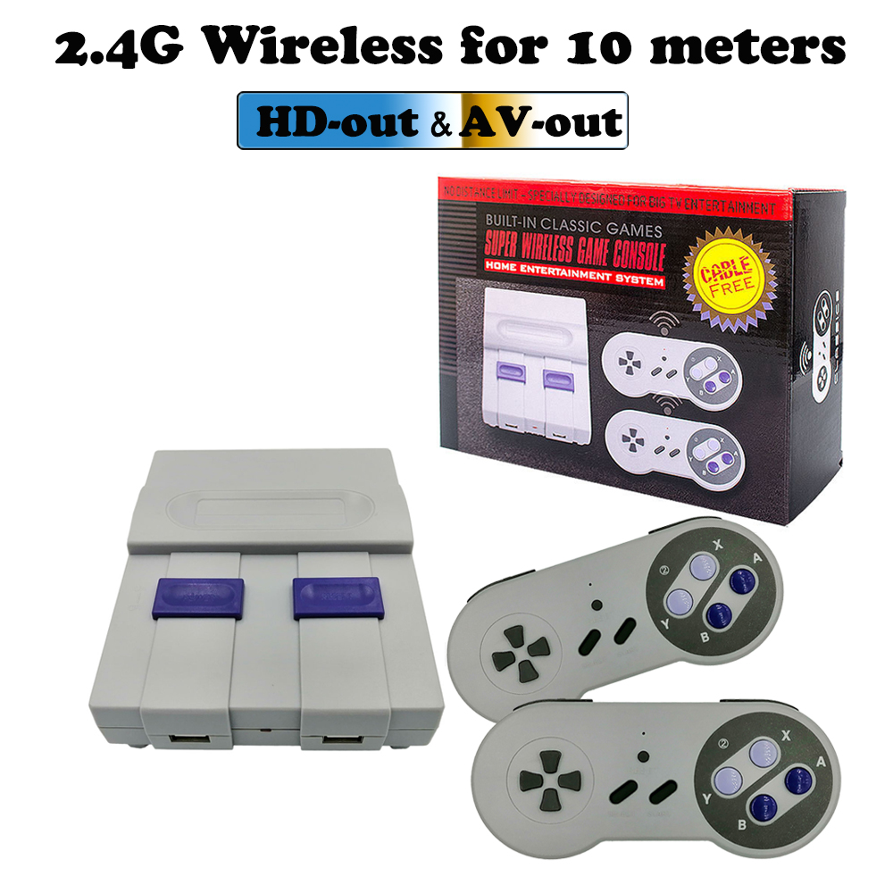 A Set HDMI/AV Family Video Games Handheld Console Retro Super Classic Game Mini 8 Bit Gaming Player with 2 Gamepads Gift for Kid