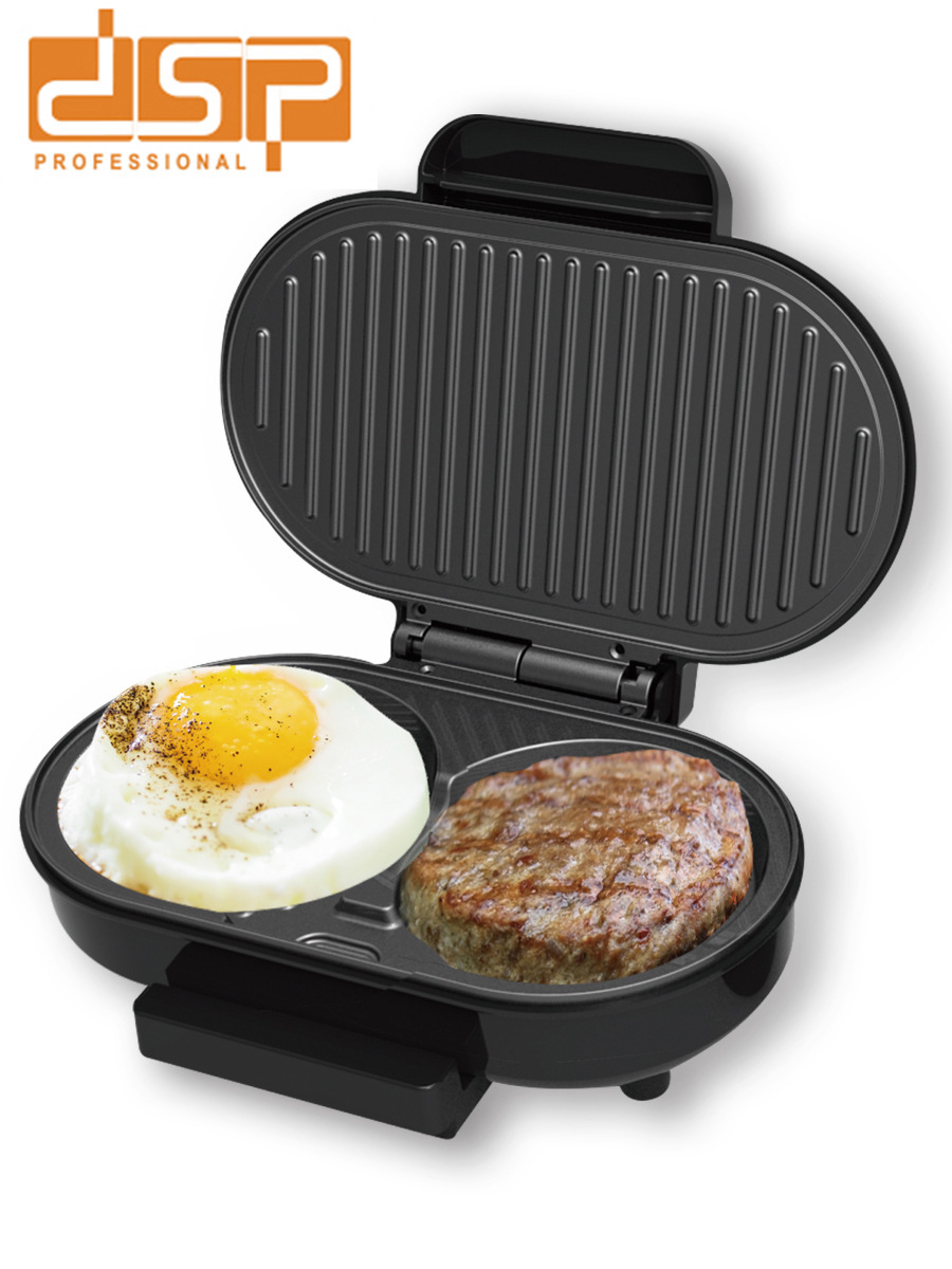 New Egg Burger Machine Home Light Breakfast Machine Fried Egg Barbecue Multi-function Non-stick Burger Mold Kitchen Accessories