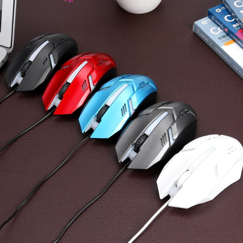 Small RGB Wired Mouse Universal 3 Buttons 1200DPI Optical Lightweight Gaming Mice Durable USB Computer Peripherals Newest