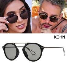 JackJad 2020 Fashion Cool KOHN Style Vintage Round Sunglasse