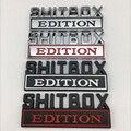 Металлическая 3d-наклейка на автомобиль, эмблема SHITBOX EDITION, значок на багажник автомобиля, наклейка на боковой части кузова, автомобильные ак...