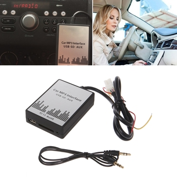 USB SD AUX Car MP3 Music Player CD Changer Adapte For Nissan Almera Maxima Teana Drop Ship image