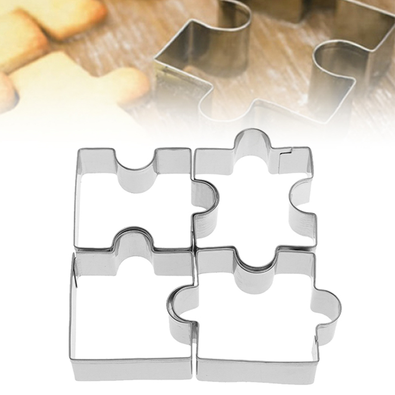1X Stainless Steel Puzzle Shape Fondant Cookie Mold Cutter Cake Decor Tool Xmas
