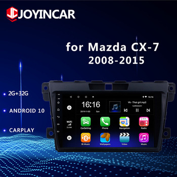 2DIN 9 Android 10/9.1 Car GPS Navigation Radio Multimedia Player MP5 no DVD For 2008 2009-2014 2015 MAZDA CX-7 cx7 cx 7 DSP image