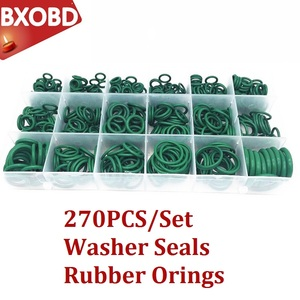 Rubber O-rings 270PCS Air Conditioning R22/R134a Repair Compressor Seal 18 Sizes O-ring Kit Green Metric O ring Seals Nitrile(China)