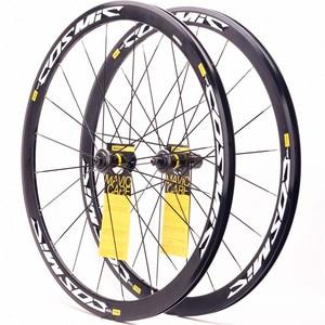 Оригинальный Сверхлегкий дорожный велосипед V тормозные Дисковые Тормозные колеса S700c Cosmic Elite 40 мм алюминиевый сплав BMX велосипедные колесн...