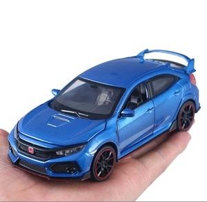 Image 5 - 高シミュレーション絶妙なdiecastsおもちゃ車: miniauto車スタイリングホンダシビックタイプr 1:32合金ダイキャストモデルベストギフト