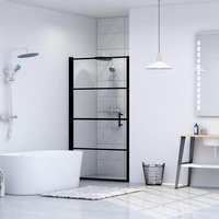 Shower DOOR Modern Tempered Glass Shower Partition Exquisite Style With Superior Quality Materials For Bathroom Furniture Black