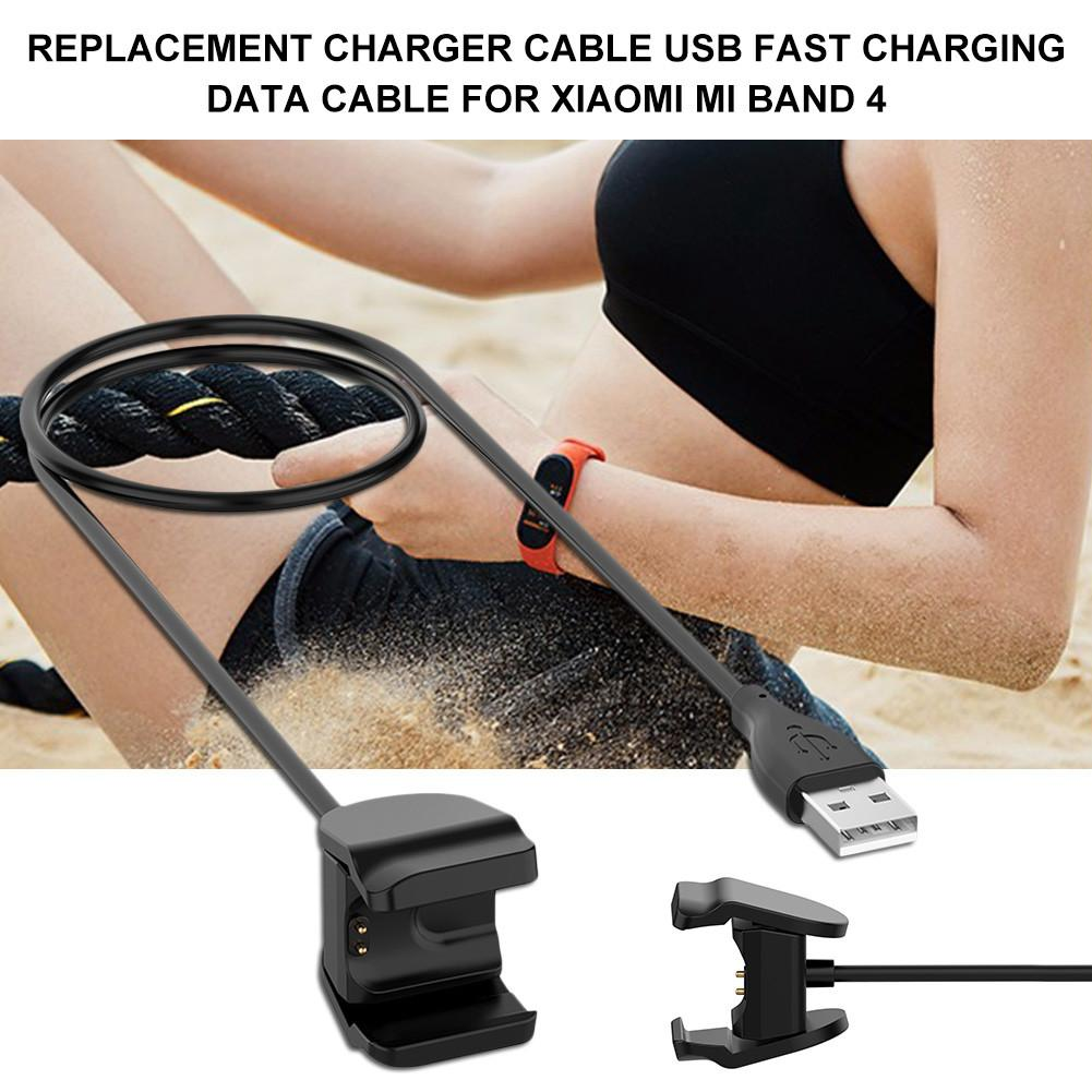 30cm / 1M Replacement Charger Cable USB Fast Charging Data Cable For Xiaomi Mi Band 4 Charger Smart Watch Charger