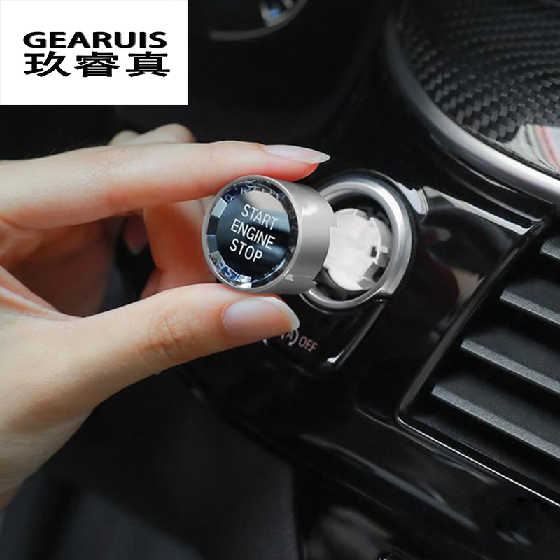 Car styling ENGINE START STOP switch buttons Stickers For BMW 5 6 7 Series 6GT G32 G30 G38 X3 X4 G01 G02 G08 G11 G12 Accessories image