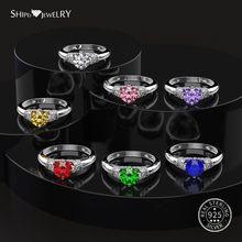 ShiPei Round Sapphire Ring for Women 100% 925 Sterling Silver Ruby Moissanite Citrine Emerald Engagement Ring Fine Jewelry Gift chic rhinestone faux emerald round ring for women