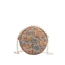 Round Straw Bag Ladies Handbags/Pearl Shoulder Messenger Fashion Evening