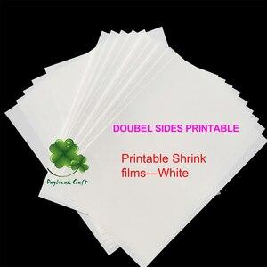 Fabryka w chinach sprzedaż bezpośrednia podwójne boki polerowany matowy biały folie termokurczliwe do druku-opakowanie 50