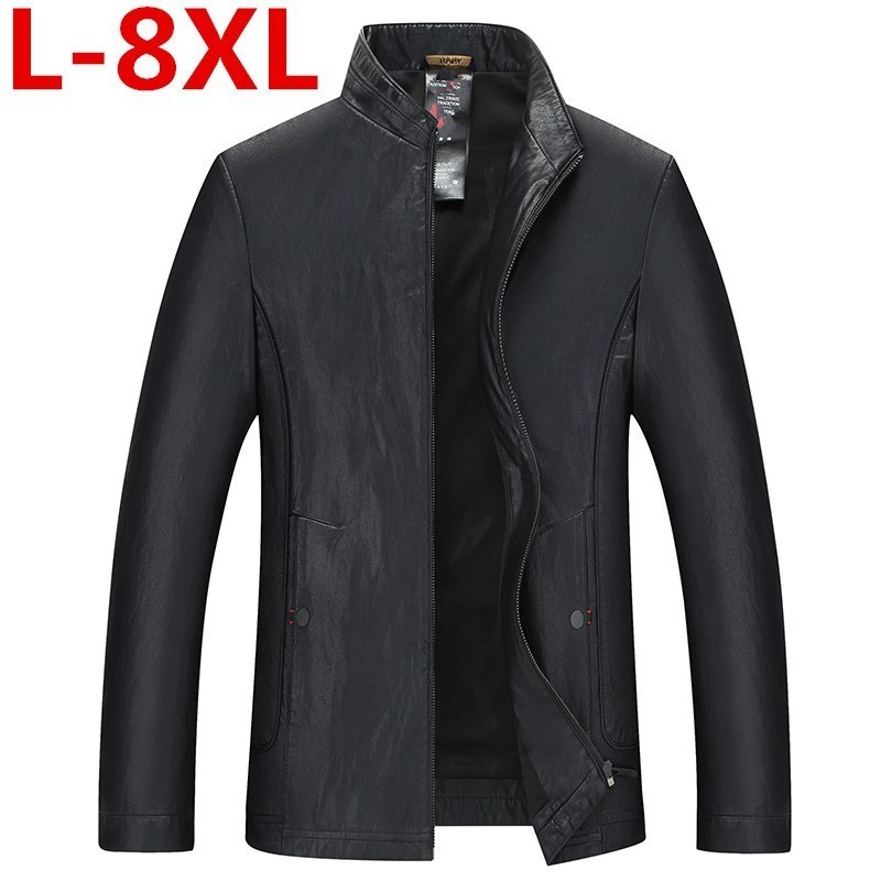 8XL 6XL 5XL Men Genuine Leather Jacket Sheepskin  New Spring And Autumn Handsome Slim Zipper Male Motorcycle Leather Jacket