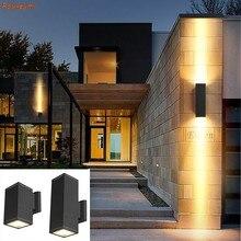 Outdoor 65mm cob double-headed LED Wall Lamp Villa Hotel exterior Wall Lamp Outdoor Waterproof Column Lamp IP65 Aluminium Baking