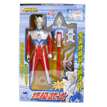 Ultraman Model Figure Action Children Toy UltraSeven Taro Combined Deformation Morpher Device Music LED Light Christmas Gifts