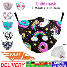 Máscara de boca tecido crianças impressão máscara rosa máscara protetora lavável bonito dos desenhos animados máscaras faciais reutilizáveis crianças tecido máscaras de poeira