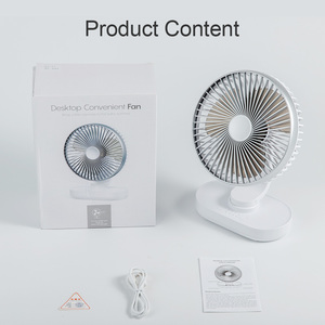 Image 5 - Minibear ventilador de escritorio pequeño, ventilador de mesa portátil USB, ventilador de escritorio oscilante de 4000mAh, ventilador recargable Personal para PC, habitación de verano y viaje
