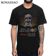 Cómodo algodón cuello redondo Vintage Arcade juego Arkanoid Breakout camiseta Casual Hombre camiseta