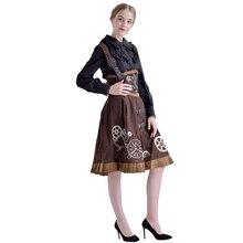 Элегантные женщины в викторианском стиле JSK Lolita Dress Готический стимпанк Vintage Вышитый шнурок для корсета Cospender Cosplay Cosplay