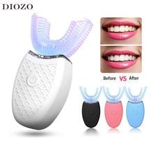 Brosse à dents électrique intelligente et sonique, Type U, 4 Modes, brosse à dents, charge USB, blanchiment des dents, lumière bleue, 360 degrés, sonique