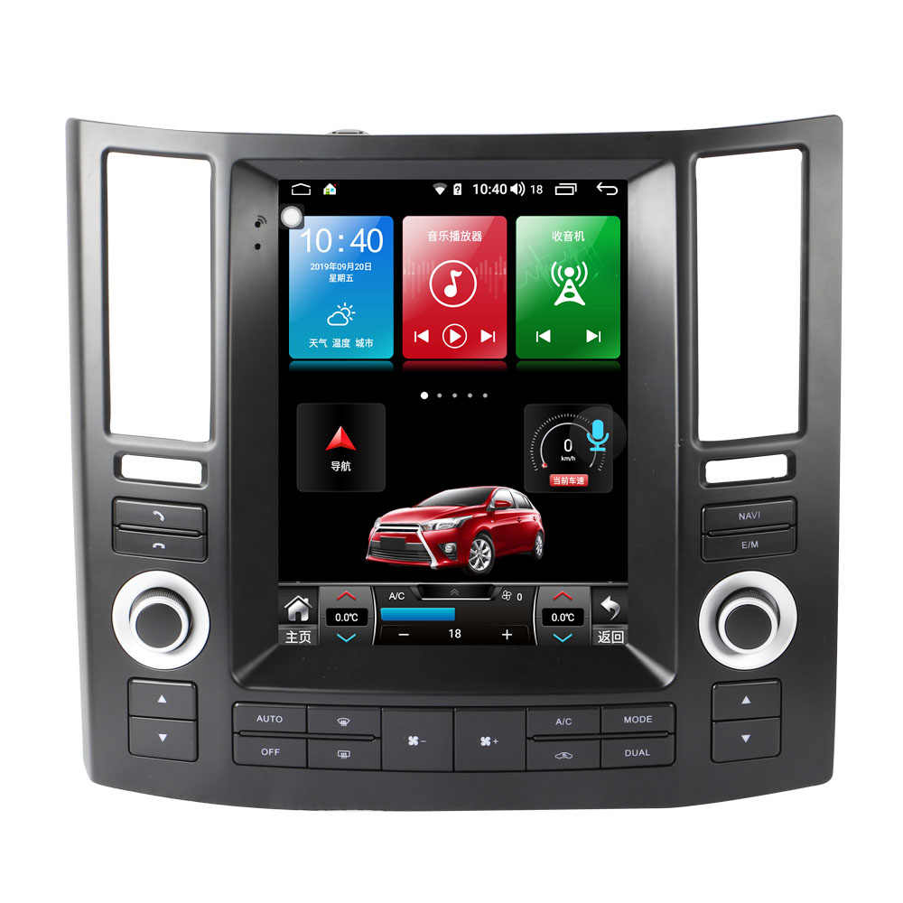 9,7 Zoll Android 8.1 Auto DVD Player USB WiFi Radio AM FM Audio Video Multimedia GPS Stimme Navigation Für Infiniti FX35