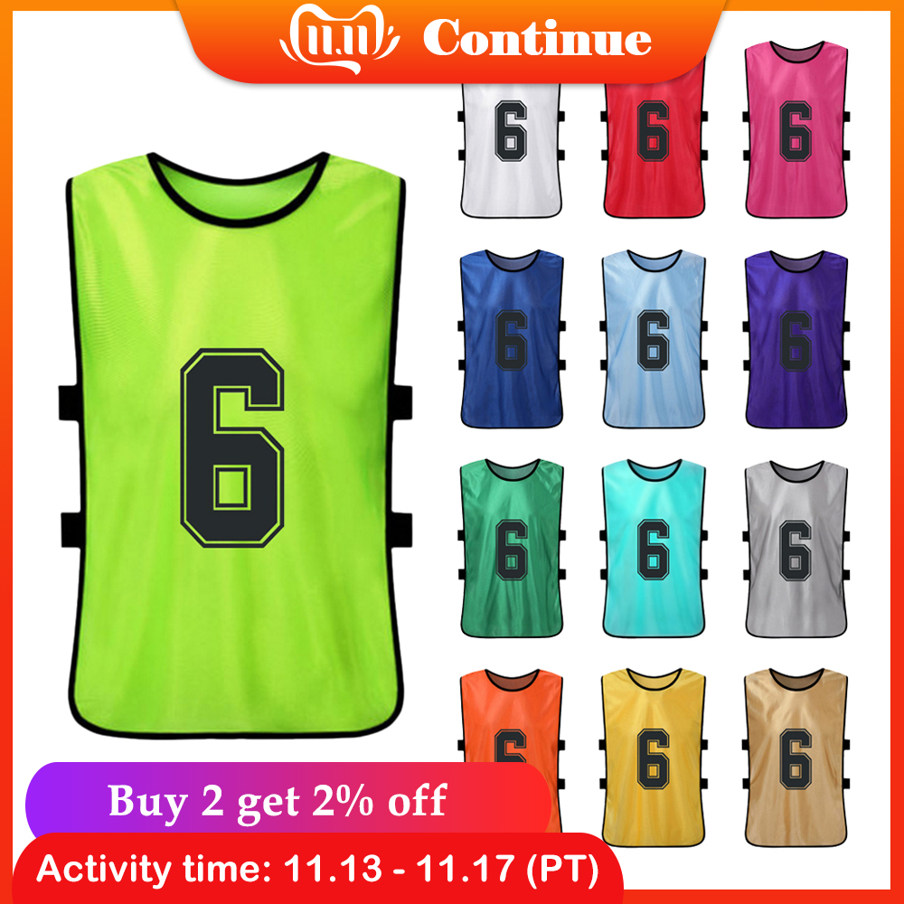 6 PCS Kids Jerseys Quick Dry Basketball Pinnies Youth Sports Scrimmage Soccer Team Training Bibs Practice Sports Vest