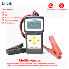 LANCOL Micro200 цифровой тестер батареи 12 В блок измерения батареи автомобиля CCA тестер батареи проводимость батареи сопротивление Авто