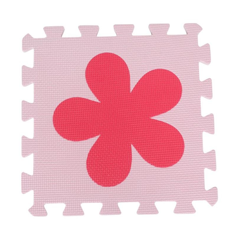 10pcs EVA Foam Puzzle Play Mats Installa And Remove Convenient Simple Kids Interlocking Exercise Floor Pads Red Pink