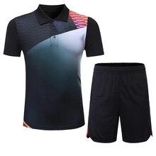 Футболка и шорты для настольного тенниса, женская/Мужская одежда, кофта для пинг-понга и шорты для настольного тенниса, комплекты одежды для...