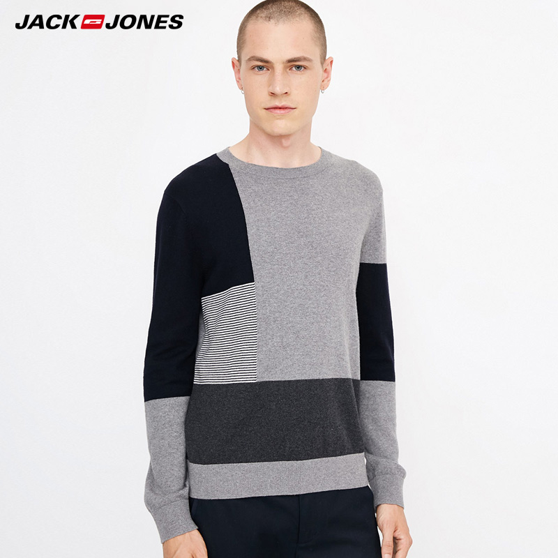 Jack Jones Cashmere Mens Round Neck Casual  Knitting Sweater | 218324524