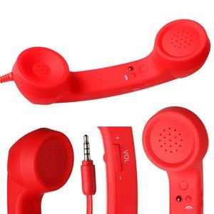 Телефонными трубками ретро телефонная трубка, противошумные наушники с микрофоном проводной 3,5 мм аудио разъем высокого качества динамик д...