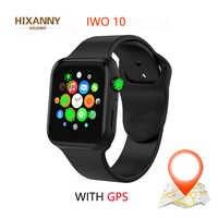 Nuevo IWO 10 reloj Inteligente Bluetooth 1:1 serie 4 GPS Inteligente Brinde Pulseira SmartWatch Android para actualización de IOS IWO 9 8 7 5 6